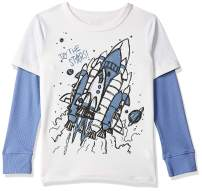 The Children's Place Baby Boys' Long Sleeve 2fer Top