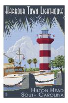 Hilton Head, South Carolina - Harbour Town Lighthouse (Premium 1000 Piece Jigsaw Puzzle for Adults, 20x30, Made in USA!)