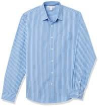 Amazon Essentials Men's Regular-Fit Long-Sleeve Stripe Casual Poplin Shirt