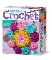 4M 3625 Easy-To-Do Crochet Kit - DIY Arts & Crafts Yarn Gift for Kids & Teens, Boys & Girls