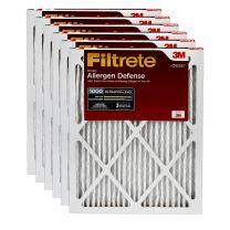 Filtrete MPR 1000 10x20x1 AC Furnace Air Filter, Micro Allergen Defense, 6-Pack