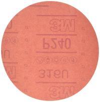 3M Hookit Red Abrasive Disc, 01220, 6 in, P240, 50 discs per carton