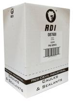 Red Devil 08760I12RD PRO Construction Grade Siliconized Acrylic Sealant, 10.1 oz., Clear, 12 - Pack