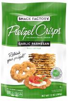 Snack Factory Garlic Pretzel Crisps, 7.2-Ounce Bags (Pack of 12)