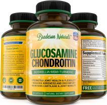 Glucosamine Chondroitin with Turmeric MSM Boswellia Bromelain & Quercetin . Natural Anti Inflammatory & Joint Pain Relief. Promotes Joint Health & Flexibility. Non-GMO. 90 Capsules Made in the USA