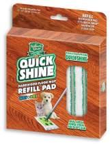 Quick Shine Hardwood Floor Cover Refill Mop Pad, White