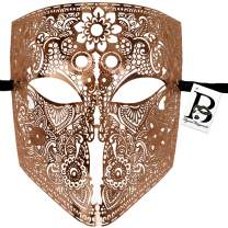 Full Face Metal Lace Masquerade Mask Bauta Venetian Halloween Costume Cosplay Party Mask