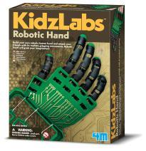 4M Kidzlabs Robotic Hand Kit - DIY Mechanical Robot Science - STEM Toys Educational Gift for Kids & Teens, Girls & Boys, Multi (3774)