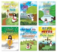 Christian God's Blessings Posters (24-Pack) - A3 Size - Church Memory Verse Sunday School Rewards - Christian Stocking Stuffers Birthday Party - Classroom Decoration Motivational Encouragement Gifts