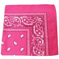 Qratfsy 100% Polyester Breathable Sheer Stylish Bandana - Paisley and Solid Colors Options