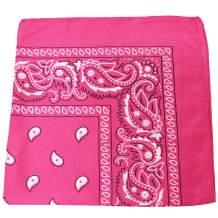 Set of 120 Mechaly Unisex Paisley 100% Polyester Double Sided Bandanas - Bulk Wholesale
