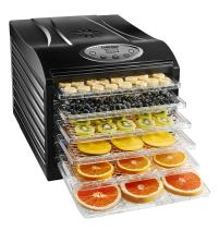 Chefman Dehydrator Machine Professional Electric Multi-Tier Food Preserver, Meat or Beef Jerky Maker, Fruit & Vegetable Dryer with 6 Slide Out Trays & Transparent Door, 6 Tray