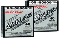 Manic Panic Flash Lightning Hair Bleach Kit (2-Pack) 40 Volume Cream Developer Hair Lightener Kit: Light, Medium Or Dark Brown & Black Hair Color, Hair Bleach Powder Lifts up to 7 Levels of Lightening
