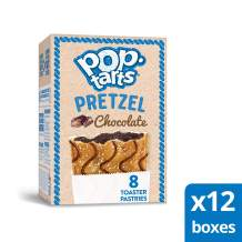 Pop-Tarts Pretzel, Breakfast Toaster Pastries, Chocolate, 96Count (Pack Of 12, 13.5 Oz Boxes)