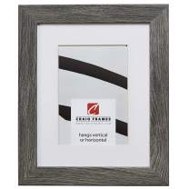 Craig Frames 26030 24 x 32 Inch Gray Barnwood Picture Frame Matted to Display a 20 x 28 Inch Photo