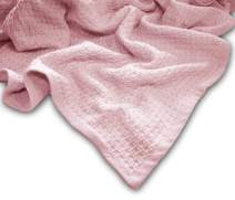 """Zoog Organic Cotton Toddler Blanket Natural Dye Premium Quality GOTS Certified Non-Chemical Non-Toxic 100% Organic Cotton Soft Knitted 31"""" x 40"""" Pink (Pink)"""