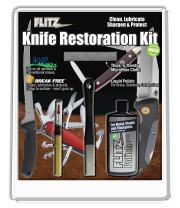 Flitz KR 41511 All-in-One Knife Restoration Care Kit – Clean, Polish, Protect and Sharpen Your Knives, Microfiber Cloth + Knife Sharpener Included