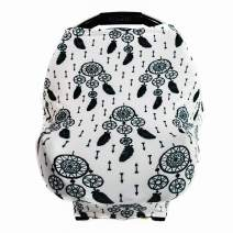 Premium Soft - Nursing Breastfeeding Cover Scarf, Baby Car Seat Cover - Multi Use Nursing Cover Pattern - Ideal Grocery Cart Cover and Highchair - Stretchy Canopy - Dream Catcher by GUFIX