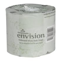 Envision 1-Ply Toilet Paper, 40 Rolls per Case, 550 Sheets per Roll