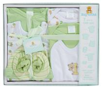 Big Oshi 7 Piece Layette Gift Set, Green