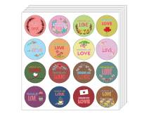 Creanoso Handmade with Love Stickers - Floral (10-Sheet) - Colorful and Unique Designs Perfect for Any Occasions as Gifts, Party Favors, or for Personal Use