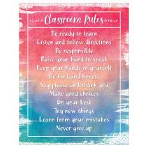 Teacher Created Resources Watercolor Classroom Rules Chart