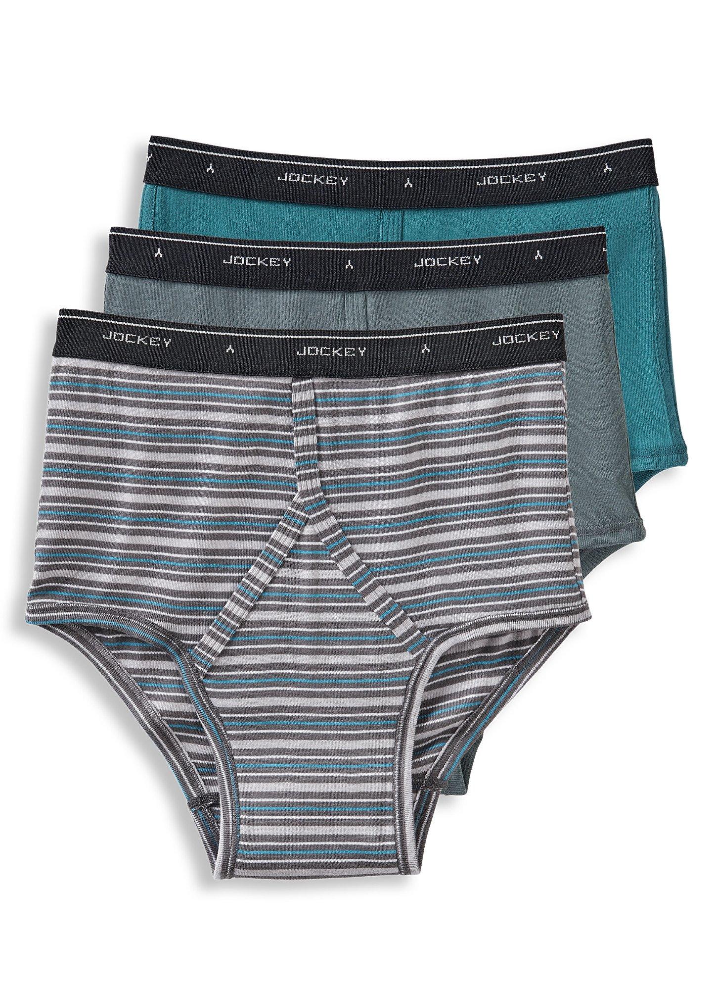 4 Pack Jockey Mens Underwear Classic Full Rise Briefs