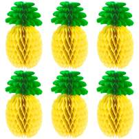 MeiMeiDa 10 Pack 14 Inch Pineapple Honeycomb Centerpieces, Tissue Paper Pineapple Table Hanging Decoration for Hawaiian Luau Party Supplies Favors Hawaiian Theme Wedding Home Decor
