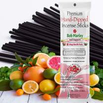 WagsMarket Premium Hand Dipped Incense Sticks, You Choose The Scent. 100-12in Sticks. (Bob Marley)