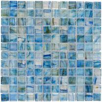 MTO0083 | Classic Uniform Square Light Green Glossy Glass Mosaic Tile