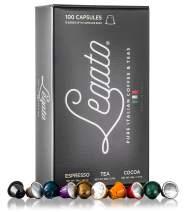 Legato Espresso Tea Chocolate Capsules - (Variety Pack, 100)