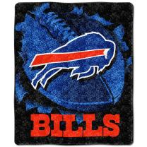 """Officially Licensed NFL """"Big Burst"""" Sherpa on Sherpa Throw Blanket, 50"""" x 60"""", Multi Color"""