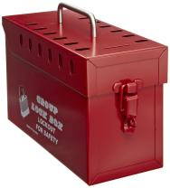 North Safety GLB03 Group Lock Box, Tamper-Free, Red