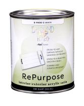 Majic Paints 8-9400-2 Diamond Hard Interior/Exterior Satin Paint RePurpose your Furniture, Cabinets, Glass, Metal, Tile, Wood and More, 1-Quart, White