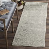 """Safavieh Evoke Collection EVK270Z Distressed Oriental Silver and Ivory Runner (2'2"""" x 13')"""