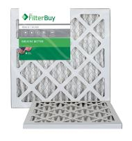 AFB MERV 8 Pleated AC Furnace Air Filter, Silver (2-Pack), (10x10x1) Inches