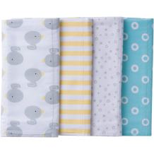Gerber Baby 4 Pack Flannel Burp Cloth, New Duck, One Size