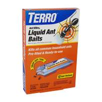 TERRO T300B Liquid Ant Bait Ant Killer, 12 bait stations