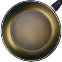 "TECHEF - Color Pan 12"" Frying Pan, Coated with New Safe Teflon Select - Color Collection/Non-Stick Coating (PFOA Free) (Spicy Olive)"