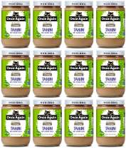 Once Again Organic Sesame Tahini - Salt Free, Unsweetened - 16 oz Jar - Case of 12