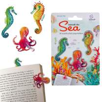Stikki Marks Bookmarks Novelty Reusable Notepad Book Page Markers - Pack of 30 (Under The Sea)