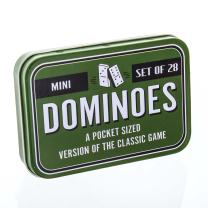 Paladone Mini Pocket Sized Dominoes Travel Game - Set of 28 Dominoes