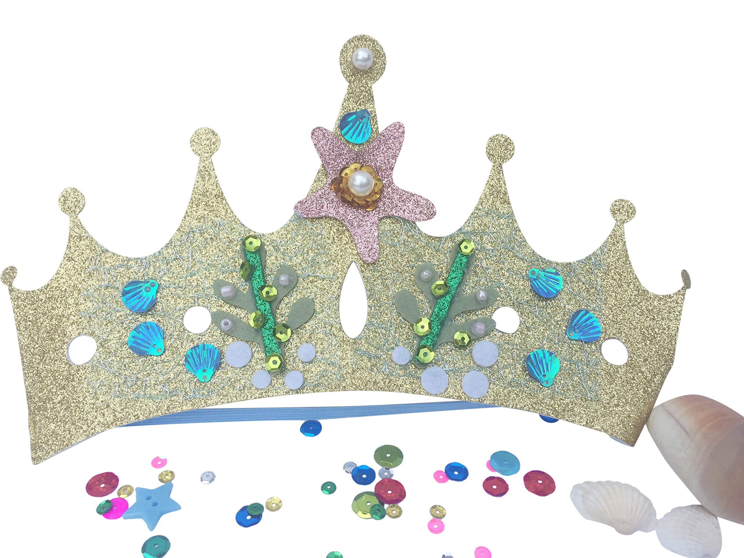 Mermaid Crown Tiara for Girls: Mermaid Hair Accessories for Kids and Toddlers