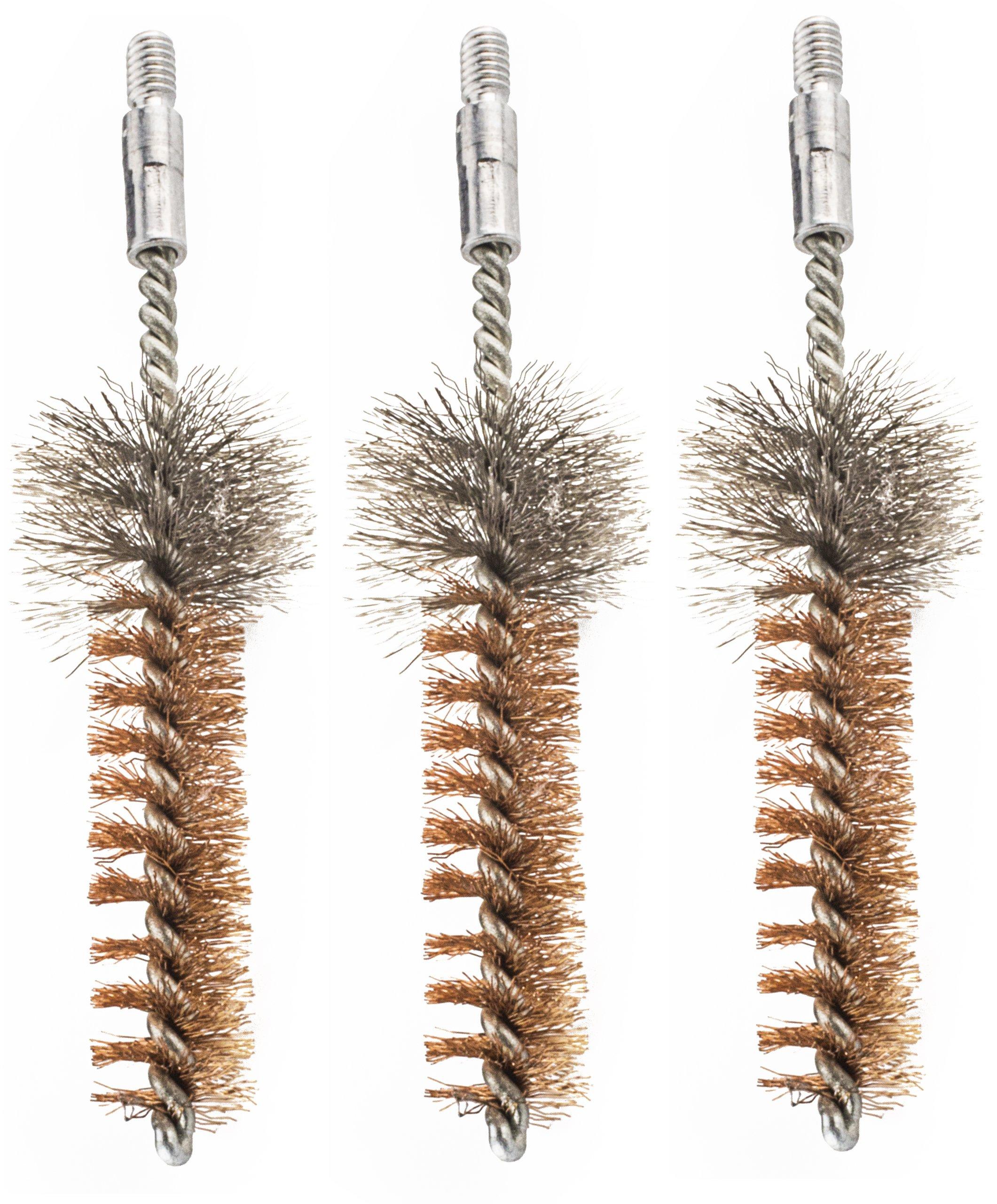 Hoppe's Phosphor Bronze 7.62mm/.308cal AR Rifle Chamber Brush (Pack of 3)