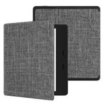 Ayotu Fabric Soft Case for All-New Kindle Oasis(10th Gen, 2019 Release & 9th Gen, 2017 Release) Thinnest and Lightest New 7''Kindle Oasis Cover with Auto Wake/Sleep,Soft Shell Series KO The Gray