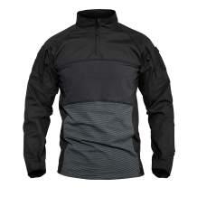 MAGCOMSEN Men's Tactical Shirts 1/4 Zip Long Sleeve Military Shirt 2 Zipper Pockets