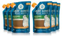 Rosemary & Lemon Bone Broth by Bare Bones - Organic, Chicken Bone Broth, Protein/Collagen-rich, 16 Oz (Pack of 6)