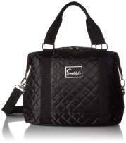Travel Weekender Overnight Carry-on Under the Seat Shoulder Tote Bag (Small, Black)