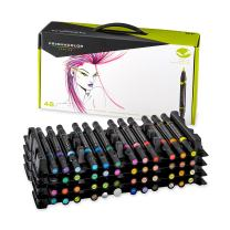 Prismacolor 1773302 Premier Double-Ended Art Markers, Fine and Brush Tip, 48-Count