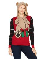 Ugly Christmas Sweater Company Women's Assorted Hoodie Xmas Sweaters-Juniors